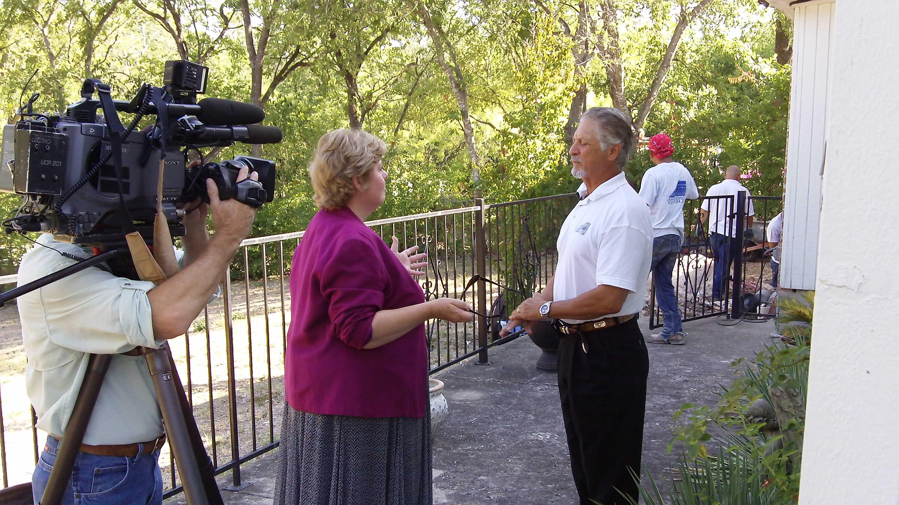 News Station Interviews Experienced San Antonio Foundation Repair Companies